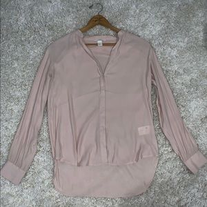H&M pale pink blouse